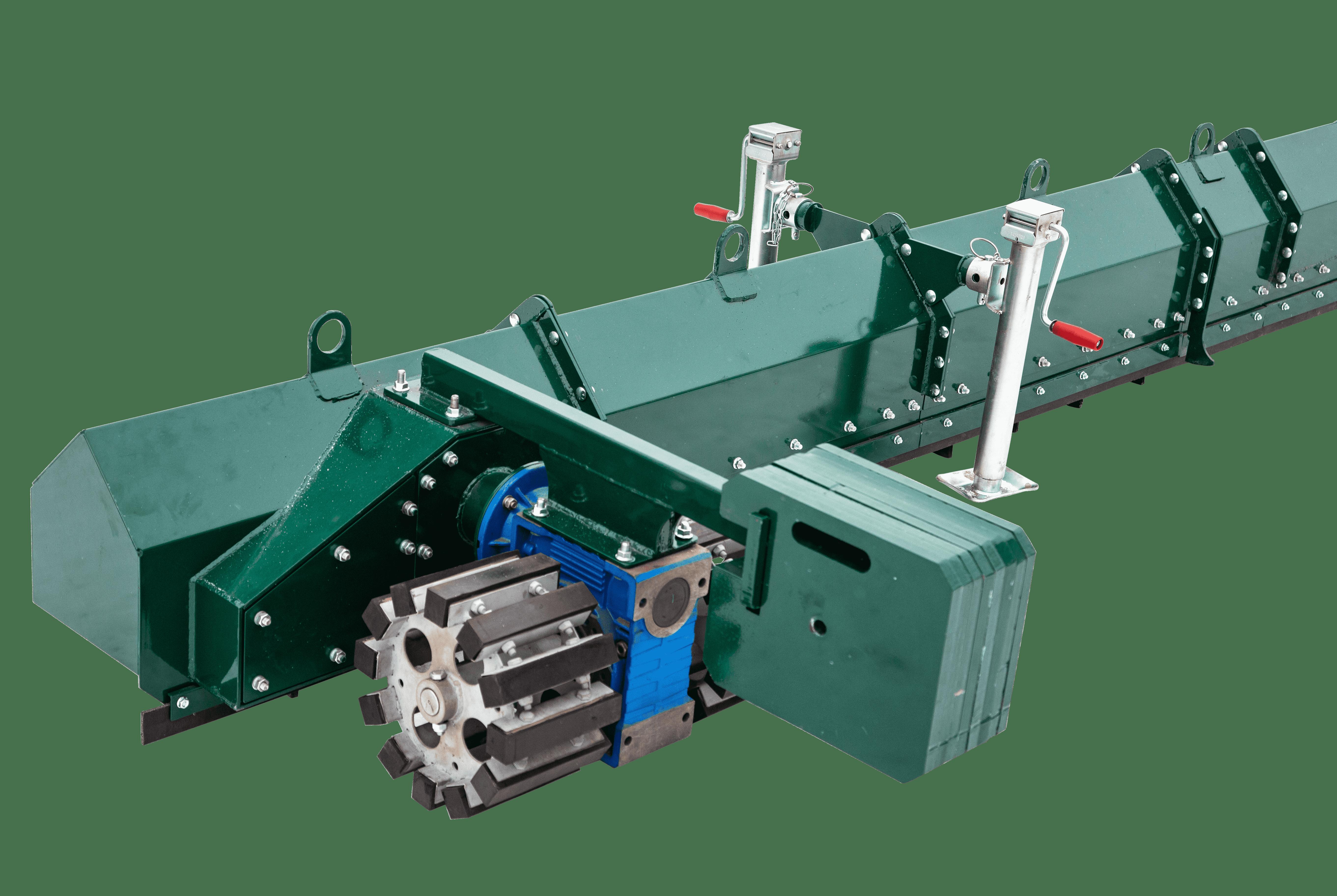 Зачистной транспортер конвейер ленточный монтаж